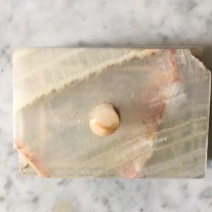 Vintage marble stone trinket jewelry box